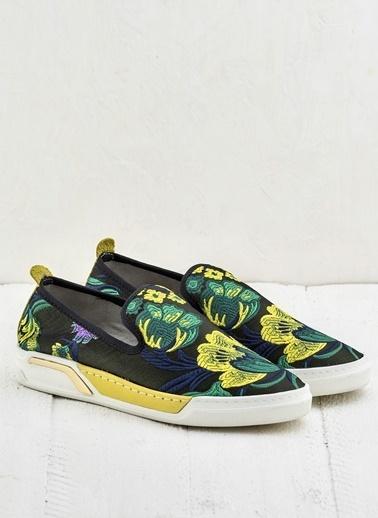 Elle Desenli Ayakkabı Sarı